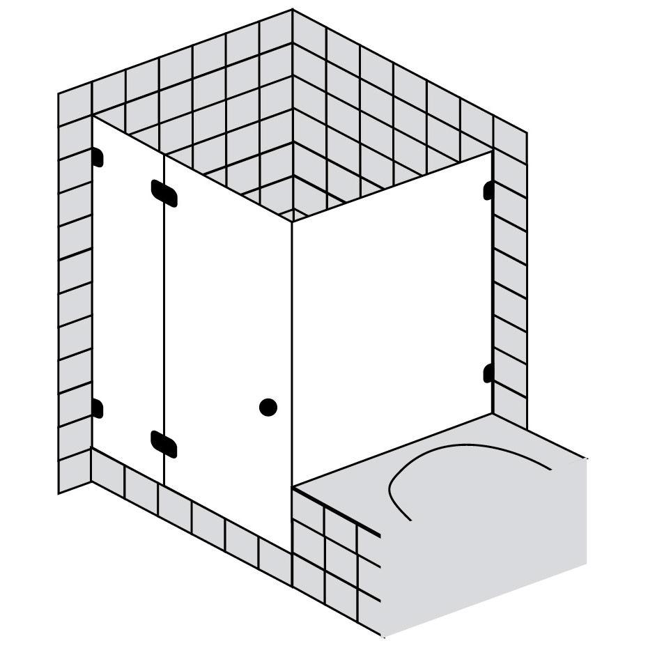 sprinz bs dusche t r und verk rzte seitenwand bis 100 x. Black Bedroom Furniture Sets. Home Design Ideas