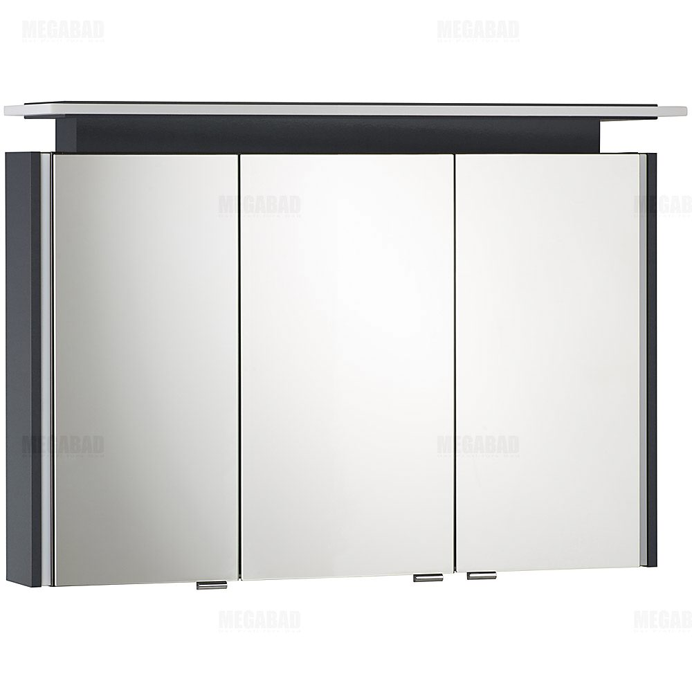 architekt 100 led a spiegelschrank 100 cm megabad. Black Bedroom Furniture Sets. Home Design Ideas