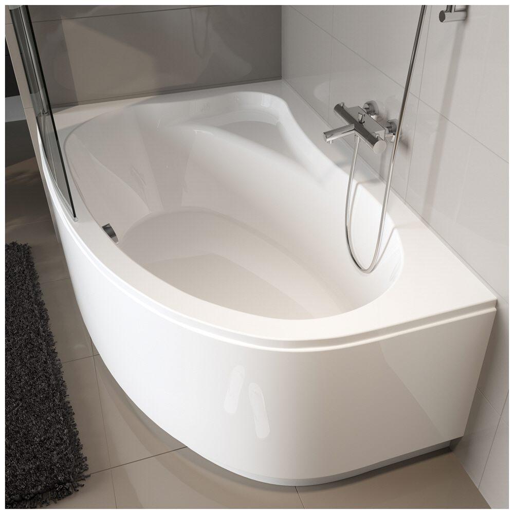 riho lyra raumspar badewanne 170 x 110 cm rechts ba63 megabad. Black Bedroom Furniture Sets. Home Design Ideas