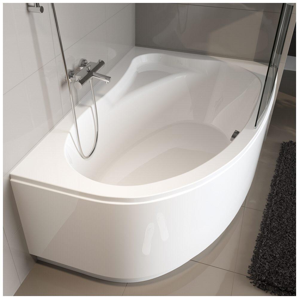riho lyra raumspar badewanne 140 x 90 cm links ba66 megabad. Black Bedroom Furniture Sets. Home Design Ideas