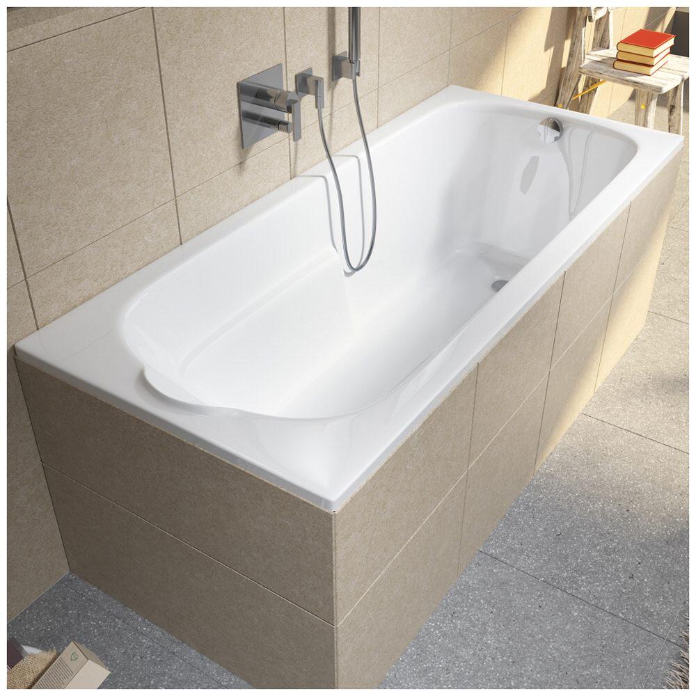 riho virgo rechteckwanne 170 x 75 cm bz07 megabad. Black Bedroom Furniture Sets. Home Design Ideas