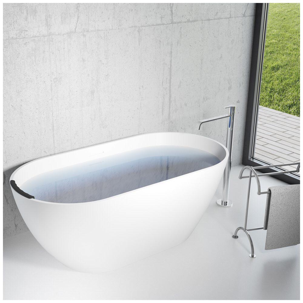 Riho Bilbao freistehende Badewanne 150 x 75 cm BS12 - MEGABAD