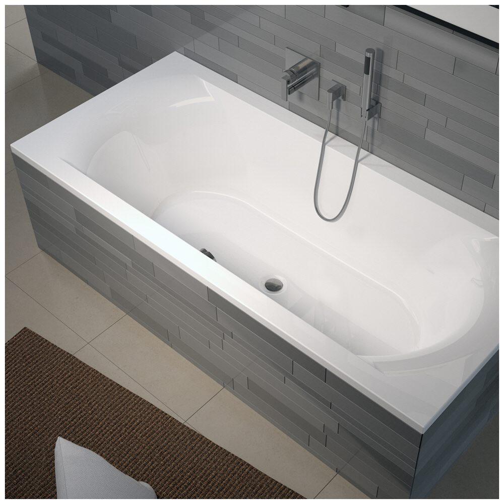 riho lima rechteck badewanne 190 x 90 cm bb48 megabad. Black Bedroom Furniture Sets. Home Design Ideas