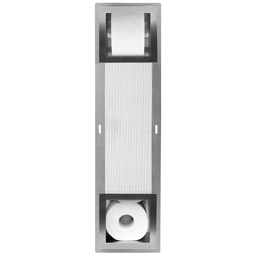 ess container roll wc papierhalter mit vorratsbeh lter f r 5 rollen tcl 5 megabad. Black Bedroom Furniture Sets. Home Design Ideas