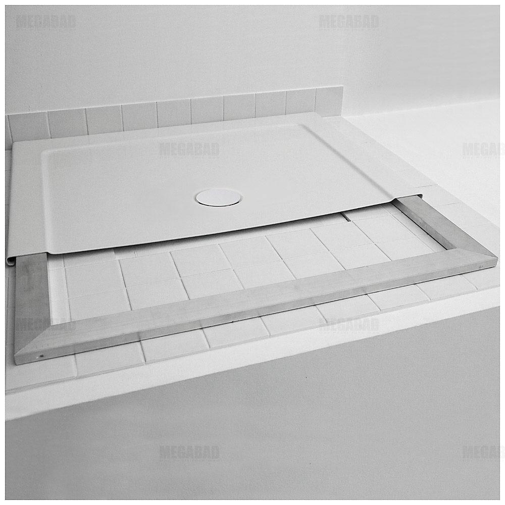 Bette One Duschwanne 90 x 90 cm mit Tragrahmen 3330-000 - MEGABAD | {Duschwanne flach 120 x 90 18}