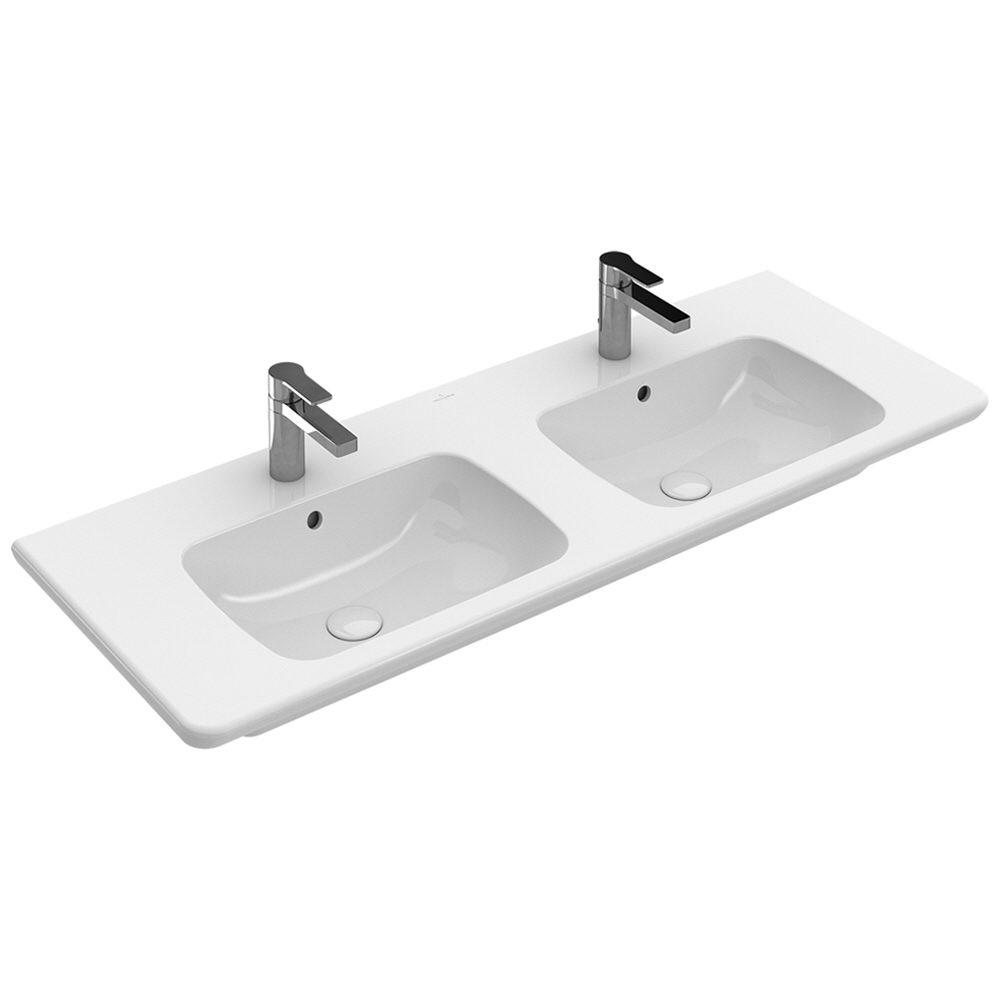 Doppelwaschtisch villeroy & boch  Villeroy & Boch Vivia Schrank-Doppelwaschtisch 130 cm 4143D401 ...