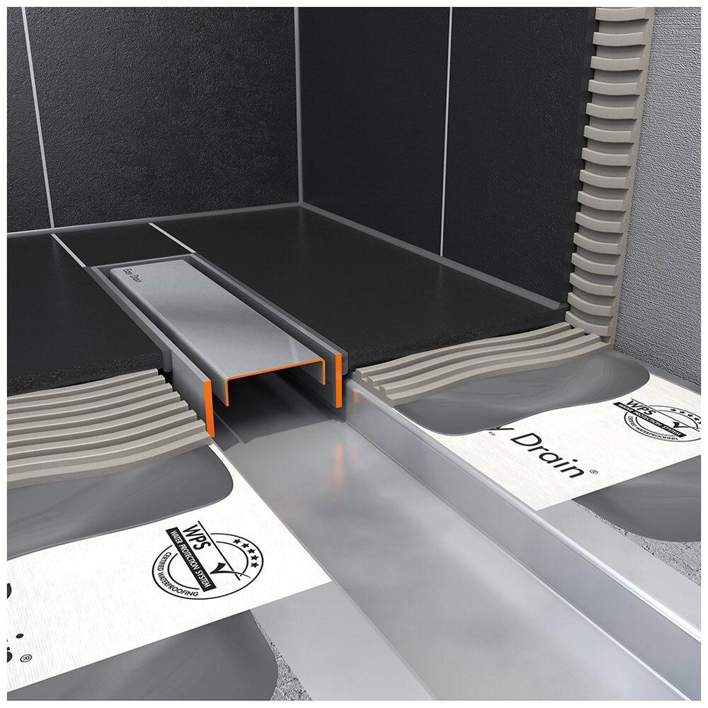 ess easy drain modulo 30 taf 1400 duschrinne komplettset edcomtaf 1400 30 megabad. Black Bedroom Furniture Sets. Home Design Ideas