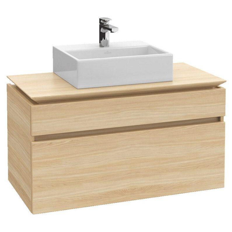villeroy boch legato waschtischunterschrank 100 cm mit led beleuchtung b125l0pn megabad. Black Bedroom Furniture Sets. Home Design Ideas